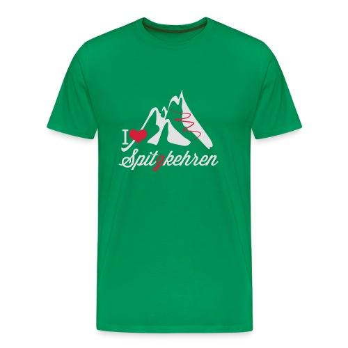 I Love Spitzkehren (rot) - Männer Premium T-Shirt