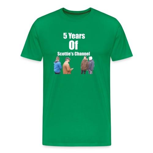 5 Years Of Scottie's Channel - Men's Premium T-Shirt