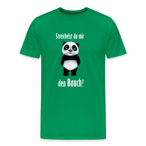 Panda Bauch - Männer Premium T-Shirt