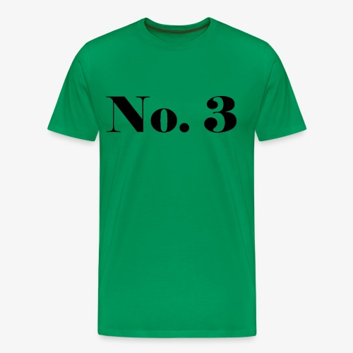 003 - No. 3 - Männer Premium T-Shirt