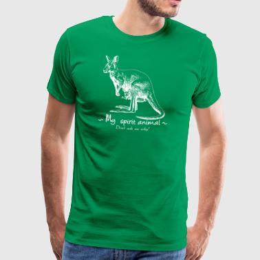 Mój totem zwierzęcy jest kangur. - Koszulka męska Premium