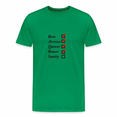 Archery Checklist - Men's Premium T-Shirt