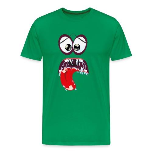 Monsteraugen mit Sabbermaul - Männer Premium T-Shirt