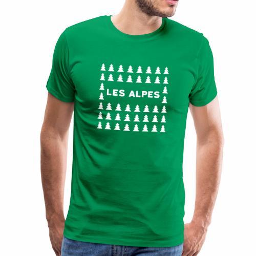 sapins les alpes - T-shirt Premium Homme