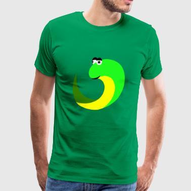 zabawny zielony wąż jad komiks Kindermotiv - Koszulka męska Premium