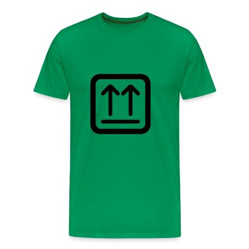 Hier ist oben - Männer Premium T-Shirt