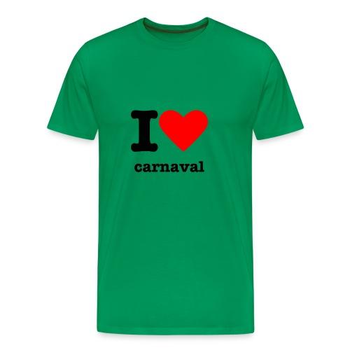 I love carnaval - Mannen Premium T-shirt