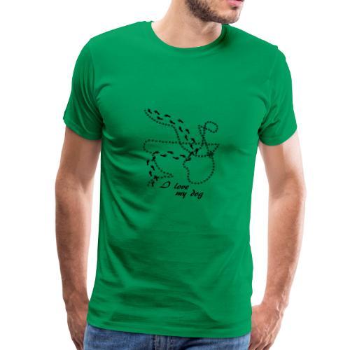 I Love my dog - black - Männer Premium T-Shirt