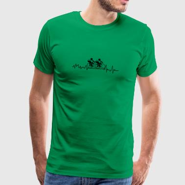 Heartbeat wyścig rowerowy koszulka dar sportu - Koszulka męska Premium
