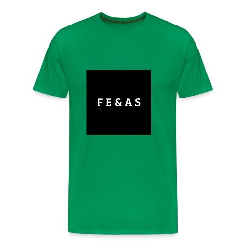 FEAS WHITE T-SHIRT - Mannen Premium T-shirt