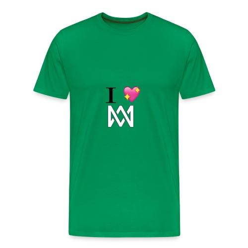 M M keps - Premium-T-shirt herr