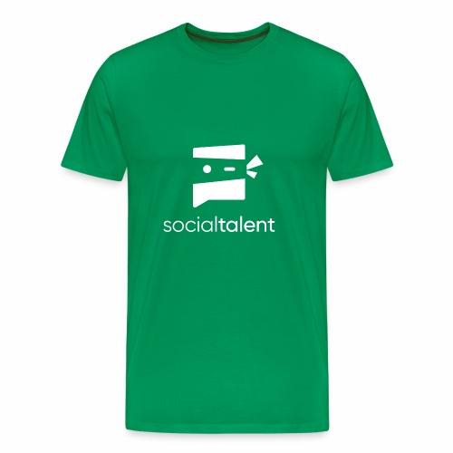 white social talent logo centre - Men's Premium T-Shirt