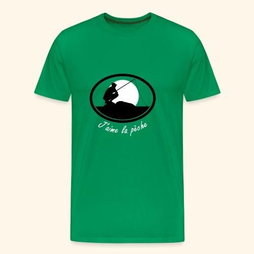 Ecusson Pecheur j aime la peche - T-shirt Premium Homme