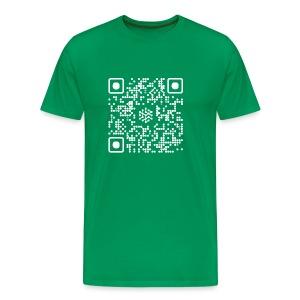 QR Safenetforum White - Men's Premium T-Shirt
