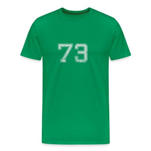 Nummer 73 Zahl Dreiundsiebzig Sieben Drei Geschenk - Männer Premium T-Shirt