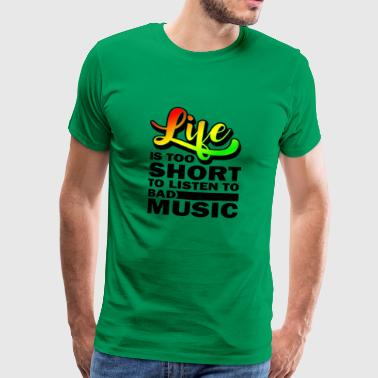 Reggae Reggaeton Música Hierba regalo escalofriante - Camiseta premium hombre