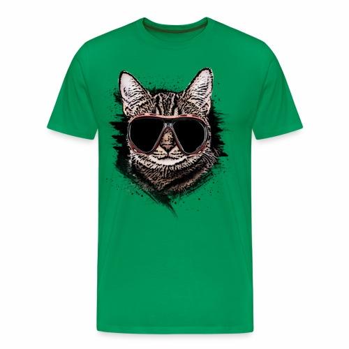 Krasse Taucher-Katze - Männer Premium T-Shirt