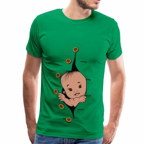 Design 1 baby without smile buttons left - T-shirt Premium Homme