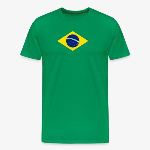 Brasilien Flagge - Männer Premium T-Shirt
