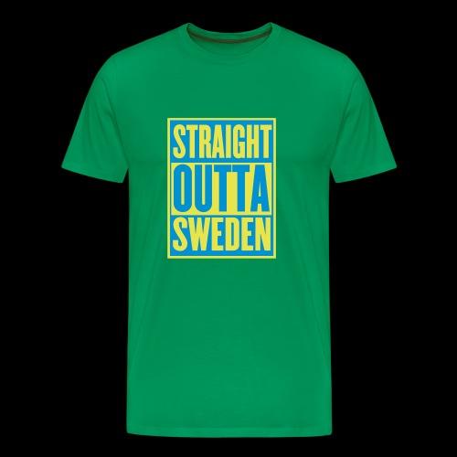Straight Outta Sweden - Premium-T-shirt herr