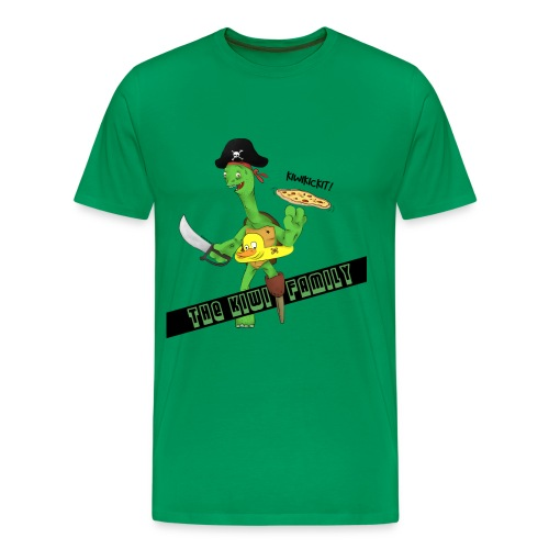 The kiwi family logo - Premium T-skjorte for menn
