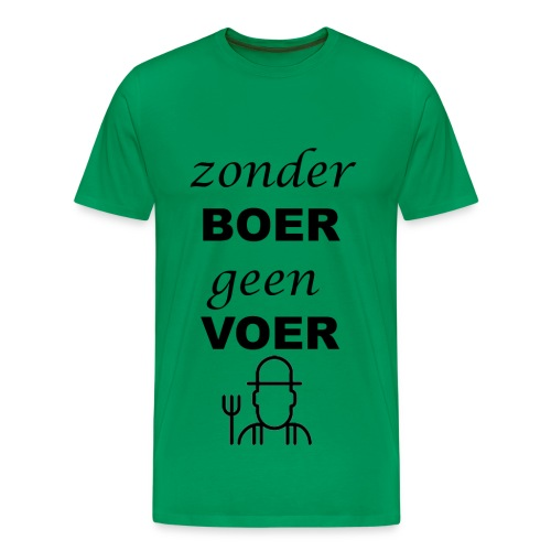 Zonder BOER geen VOER - Mannen Premium T-shirt