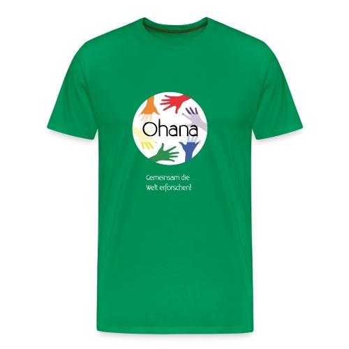 Logo mit weißem Text - Männer Premium T-Shirt