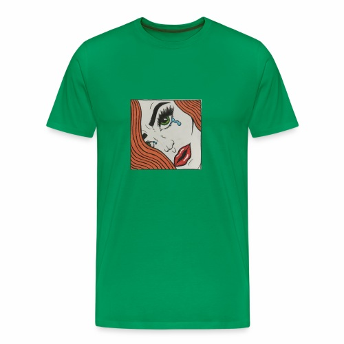 POP Art Lady-close up - Men's Premium T-Shirt