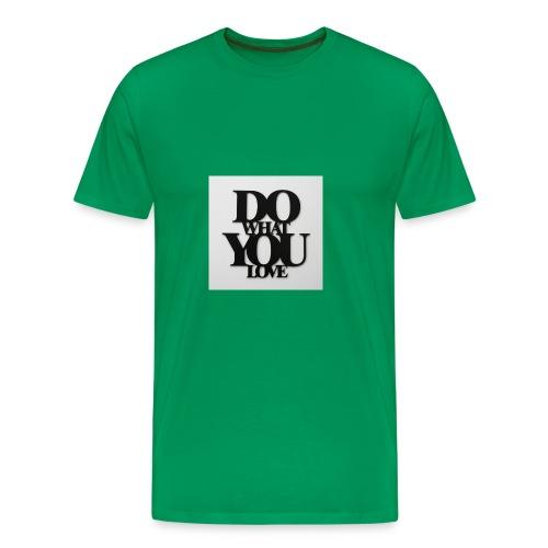 napis-na-sciane-do-what-you-love-czarny-jpg - Koszulka męska Premium