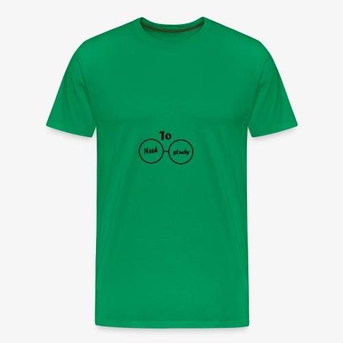 need to study...? i svart! - Premium-T-shirt herr