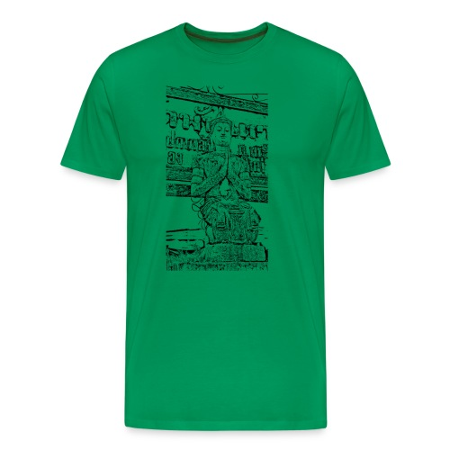 Faded Buddha Tee - Männer Premium T-Shirt
