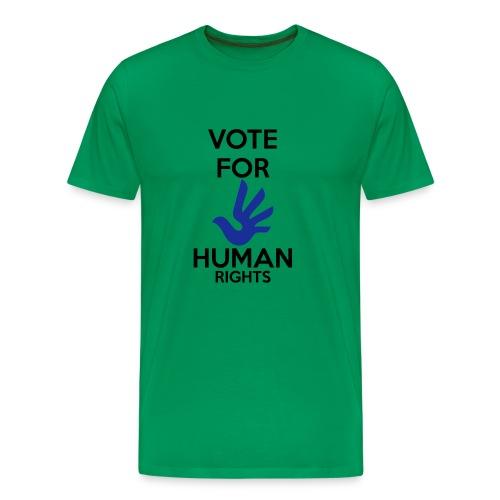 Vote for Human Rights - Mannen Premium T-shirt