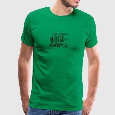 Drijvend op de rivier - Mannen Premium T-shirt