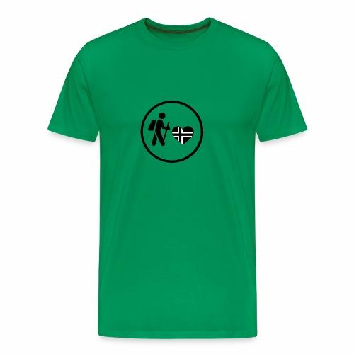 Norwayhike - Premium T-skjorte for menn
