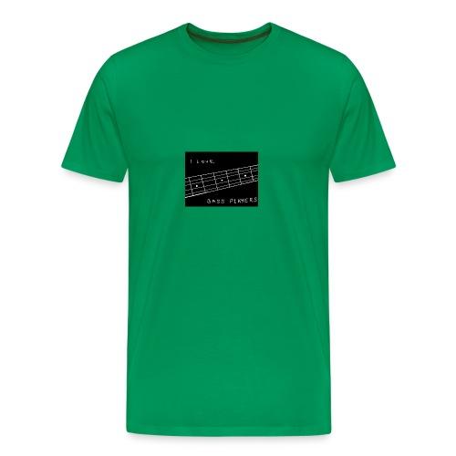 I Love Bass Players - Men's Premium T-Shirt