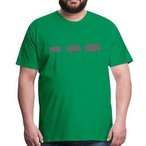 Nijlpaarden - Mannen Premium T-shirt