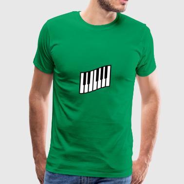 2541614 14991569 klavier - Männer Premium T-Shirt