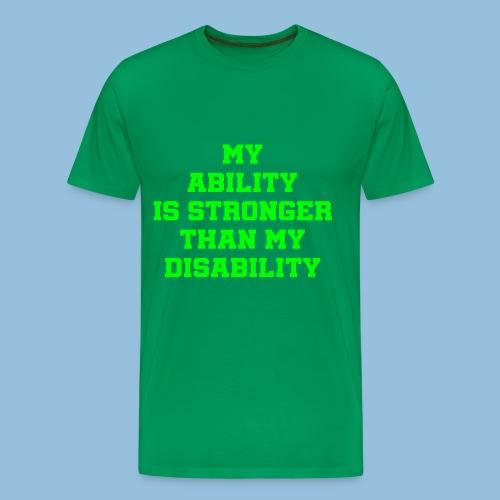 Ability3 - Mannen Premium T-shirt