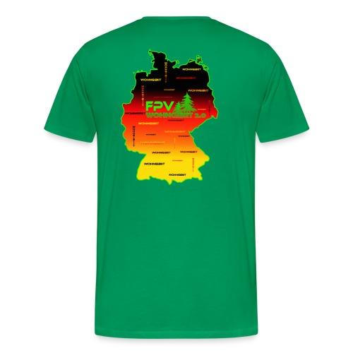 überall wohngibiit - Männer Premium T-Shirt