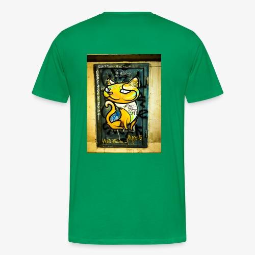 Gato. Graffiti. Barcelona - Camiseta premium hombre