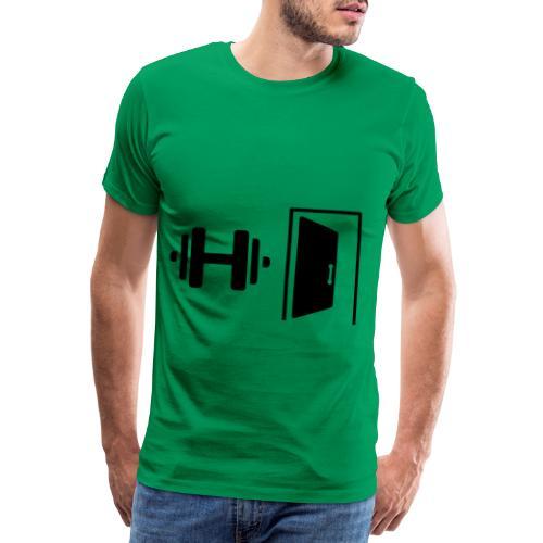 Dumbell Door - Men's Premium T-Shirt
