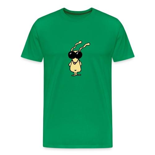 slick bunny bewerkt transparant new - Mannen Premium T-shirt