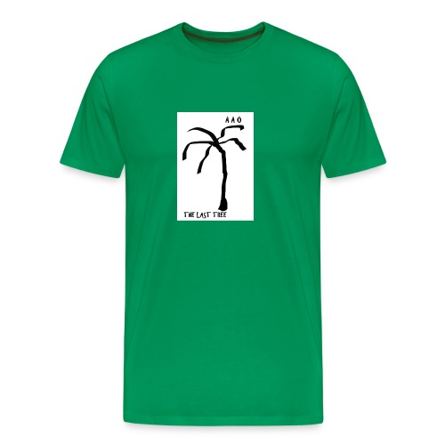 Draw-palm-black- - Premium-T-shirt herr