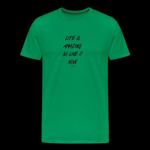 Life is amazing Samsung Case - Men's Premium T-Shirt