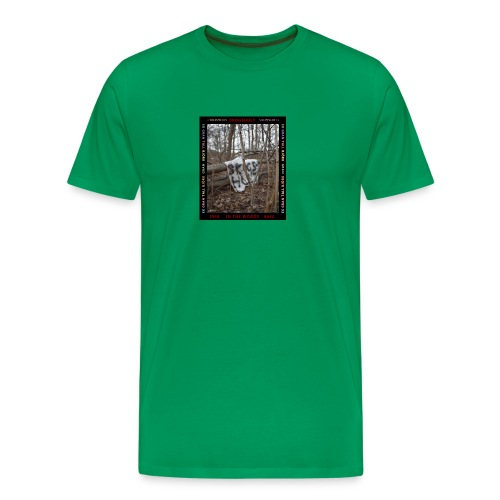 in the woods fotografi - Premium-T-shirt herr