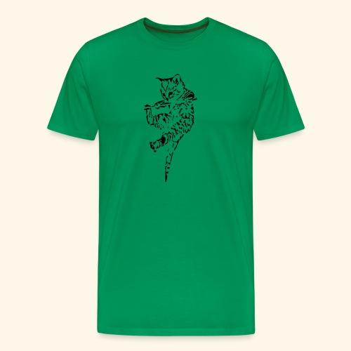Katze hängt - Männer Premium T-Shirt