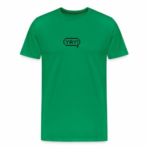 Sprechblase Yay! - Männer Premium T-Shirt