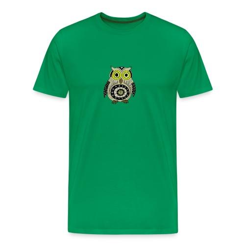 black Owly Ethnic - T-shirt Premium Homme