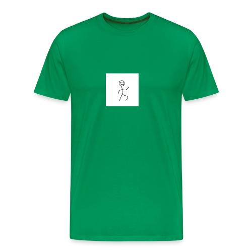 stick man t-shirt dance 1,0 - Herre premium T-shirt