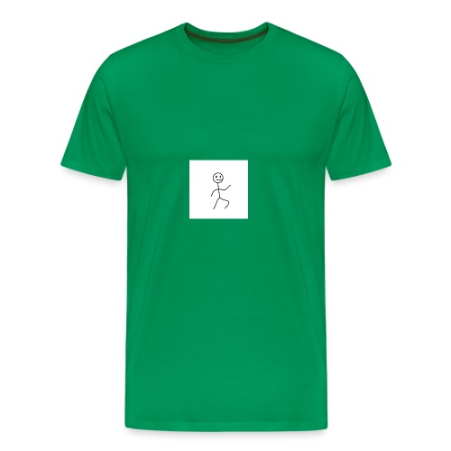 stick man t-shirt dance 1,0 - Herre premium T-shirt
